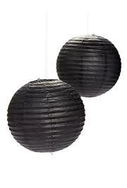 Black Paper Lanterns