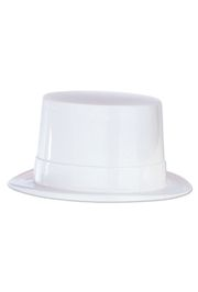 5in Tall White Plastic Top Hat
