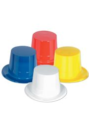 5in Tall Assorted Plastic Top Hat