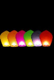Assorted Color Paper Sky Lantern