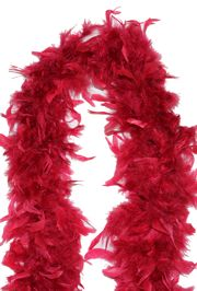 7-8in Wide x 6ft Long Wine Red Feather Boa