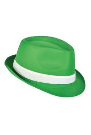 11in Long x 9in Wide Green Fedora Hat