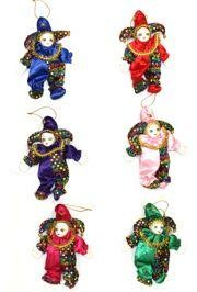 12in x 6in Assorted Color Jester Doll