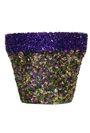 5 1/2in Glittered Mardi Gras Planter/Vase/ Pot/ Centerpiece