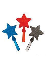 Plastic Patriotic Glitter Star Clappers