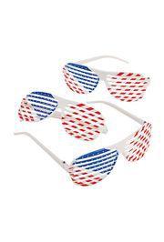 Patriotic Plastic Shutter Shading Sunglasses