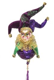 Hanging Jester Ball/ Doll
