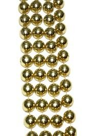 12mm 48in Metallic Gold Mardi Gras Beads