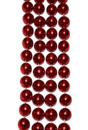12mm 42in Metallic Red Beads