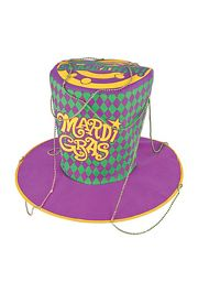 10in Tall Felt Jumbo Mardi Gras Hat