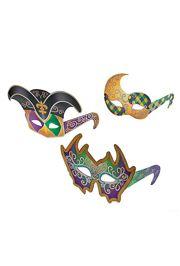 Mardi Gras Mask Glasses