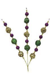 20in Tall Purple/ Green/ Gold Ball Spray
