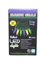 10.5ft 40 Count Mardi Gras LED Lights