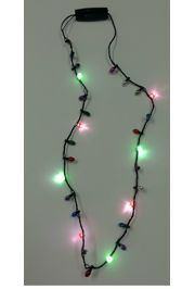 33in Flashing Multicolor LED Bulb Necklace