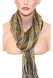 Black and Gold Shimmer Scarf