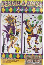 3ft x 6ft Mardi Gras Jester Set