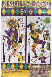 3ft x 6ft Mardi Gras Jester Set