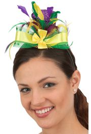 Mardi Gras Mini Top Hat w/ Fleur de Lis on the Side