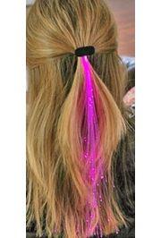 14in Long Pink Fiber-optic Hair Lights