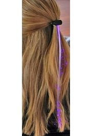 14in Long Violet Fiber-optic Hair Lights