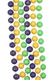 48in 12mm Purple/ Green/ Gold Opaque AB Beads