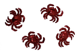 2in Long x 2.5in Wide Metallic Red Crab