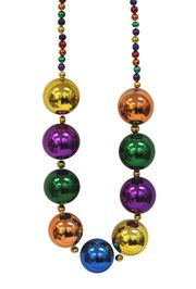 Big Balls Necklace: 60mm Rainbow Colors