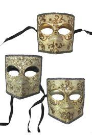 Bauta Venetian Man Masquerade Mask Full Face