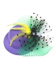 Mardi Gras Mini Hat with Clips