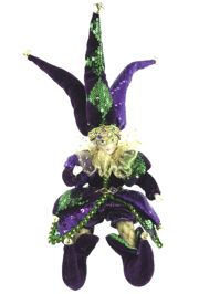 9in Tall Mardi Gras Jester Plush Doll