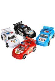 3in Pull Back Plastic Police Car