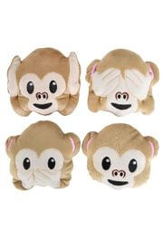 5in Plush Emoticon Monkey