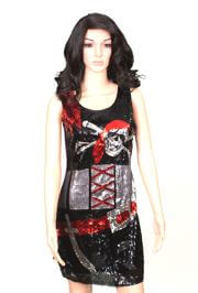 Pirate Sequin Party Dress Size Medium