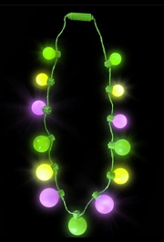 25in Long Mardi Gras Light Up Necklace