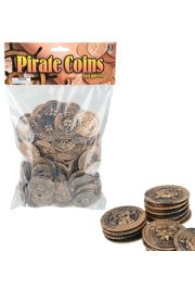 1 1/2in Plastic Pirate Coins / Doubloons