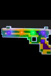 Flashing/ Light-up Gun in Mardi Gras Design