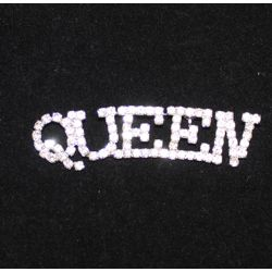 3in wide x 3/4in tall Rhinestone Queen Brooch/ Pin