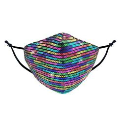 Rainbow Colors Sequin Protective Face Masks