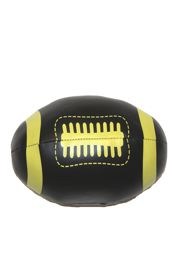 6in Long x 4in Wide Metallic Black and Gold Vinyl Footballs