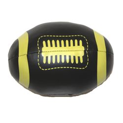 6in Long x 4in Wide Black and Gold Vinyl Footballs