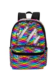 Sequin School/ Travel Large Backpack/purse/bag in Rainbow/ Silver Colors