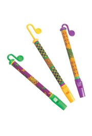 8.5in Mardi Gras Slide Flutes