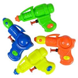 4in Assorted Plastic Neon Grip Squirt Guns