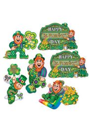 12in-14in St Patricks Leprechaun Cutouts