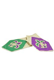 72in Long x 14in Wide Mardi Gras Table Runner w/ Fleur de Lis Design