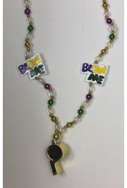 Blow Me Whistle Mardi Gras Necklace